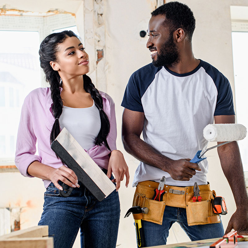black-couple-working-on-home-renovation