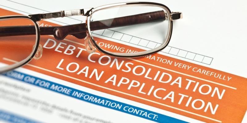 Eyeglasses on Debt Consolidation Loan Application