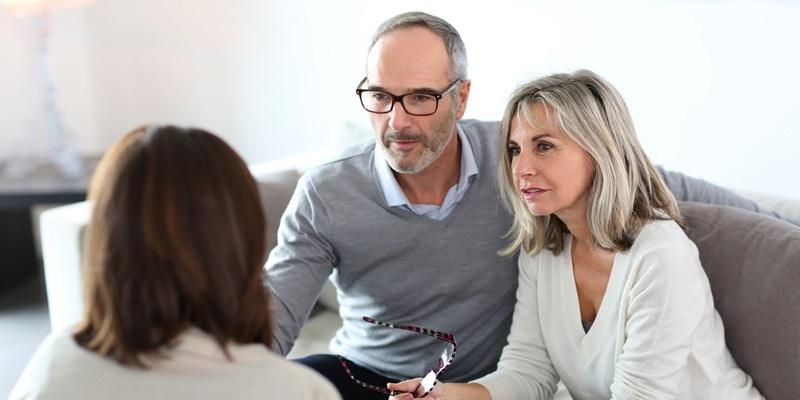 Older couple seeking a mortgage