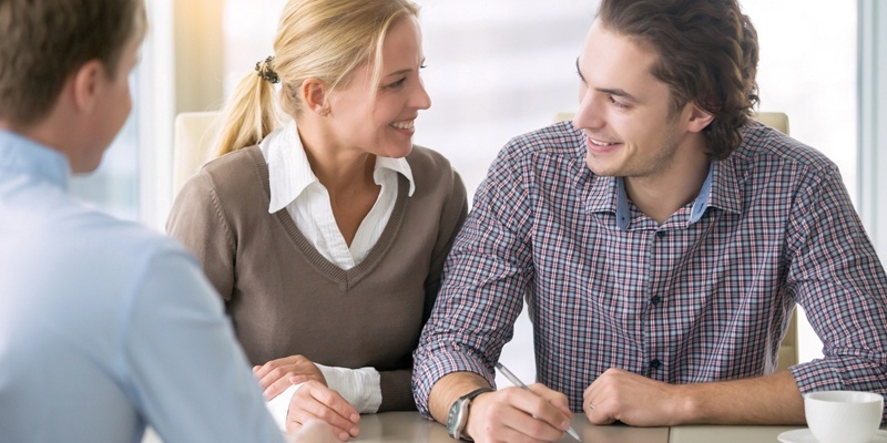 Couple looking in agreement at each other
