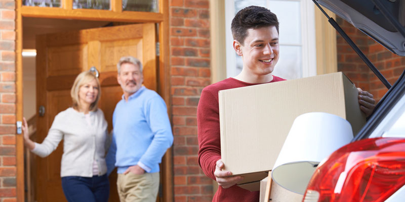 Son moving out of parents home