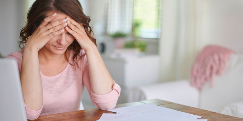 Woman stressed over mortgage problems
